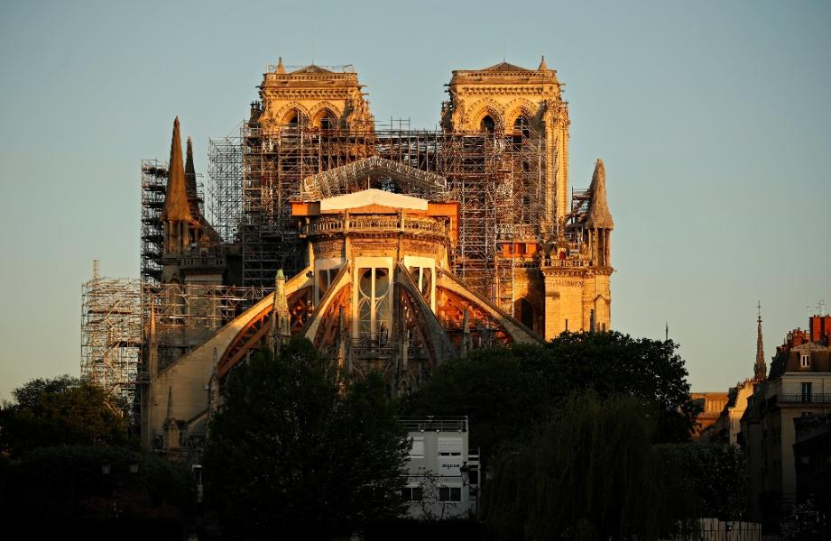 La cathédrale de Paris le 14 avril 2020.
