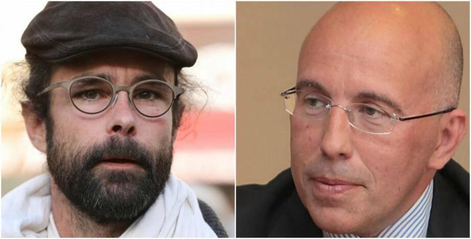 Cédric Herrou et Eric Ciotti.