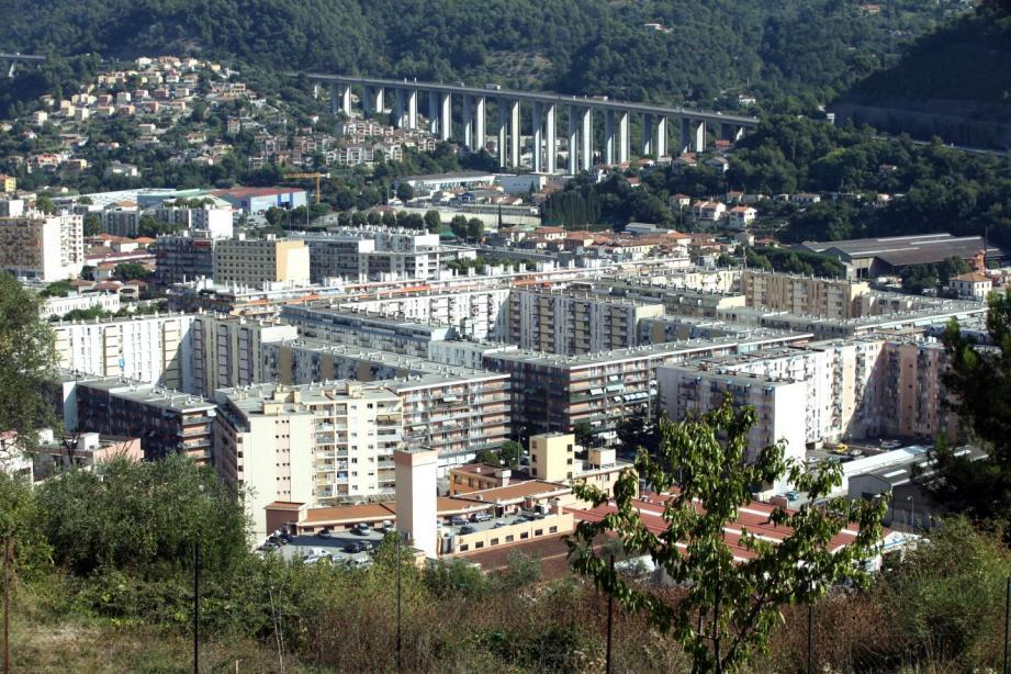 Le quartier de l'Ariane, à l'est de Nice.