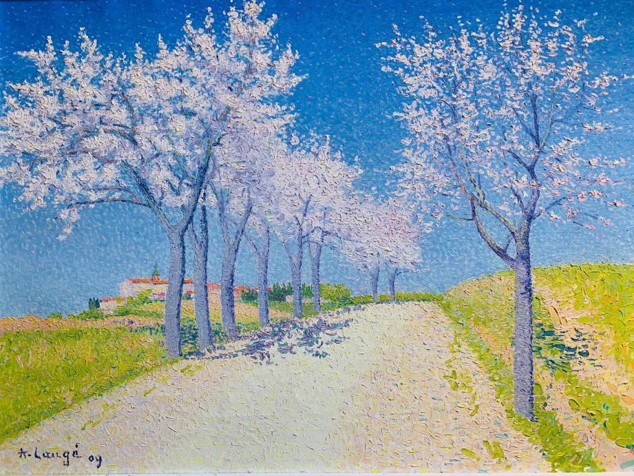 Les Amandiers en fleurs, route de Cailhau, le tableau d'Achille Laugé a été vendu à 160000euros.