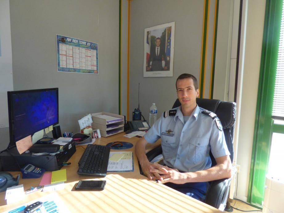 Le commandant Jean-Baptiste Lecaillon dirige la compagnie de gendarmerie de Gassin.