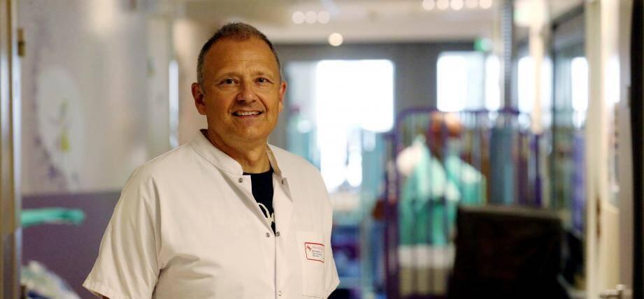 Le docteur Hervé Haas, nouveau directeur de la pédiatrie du Centre Hospitalier Princesse Grace de Monaco.