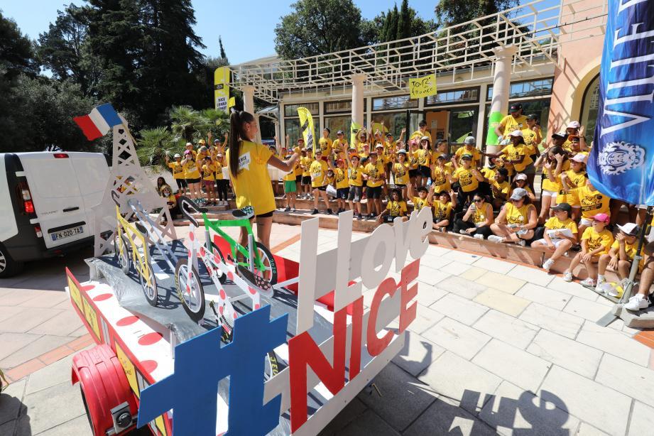 350 enfants des centres de loisirs municipaux de Nice ont participé à une journée 100% vélo.