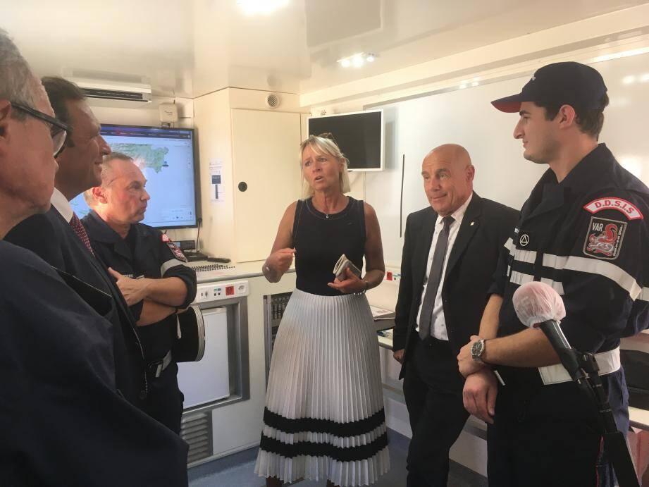 Le préfet du Var Jean-Luc Videlaine est à Bormes ce mercredi après-midi pour la présentation des moyens de lutte contre les feux de forêt.