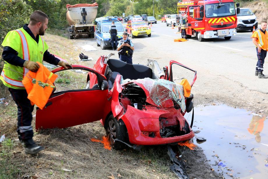 Un accident au Muy, sur la route de Fréjus.