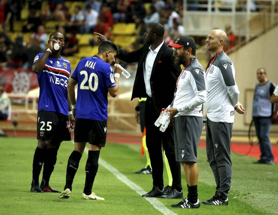 Lors du derby OGC Nice- AS Monaco au stade Louis II de Monaco lors de la 7ème journée de Ligue 1 le mardi 24 septembre 2019