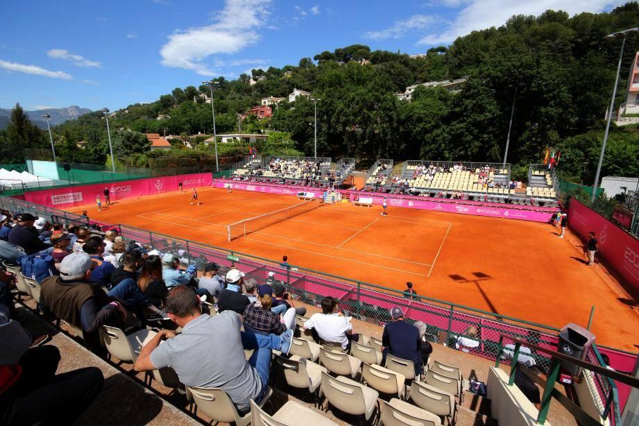 Lors du 22eme Open de tennis  féminin de Cagnes-sur-Mer, l'an dernier.