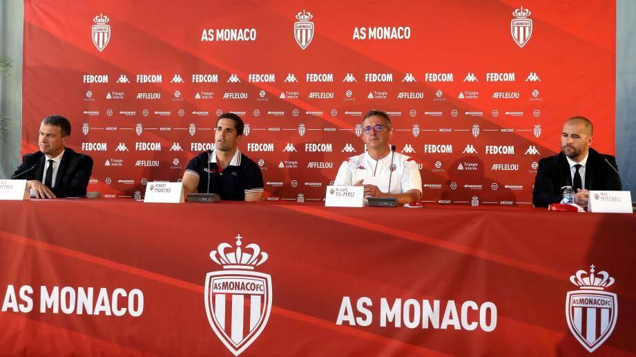 L'AS Monaco avait donné rendez-vous à la presse ce lundi.
