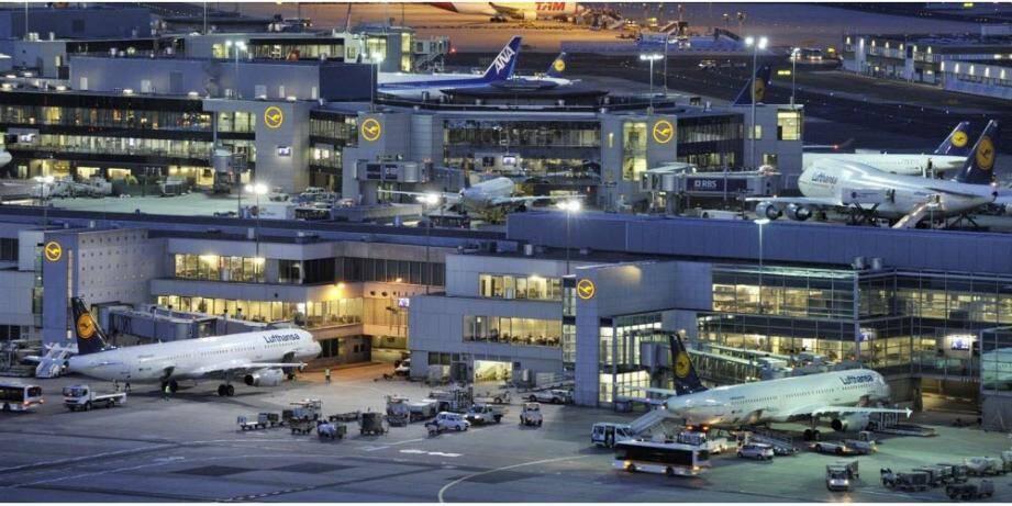 L'aéroport de Francfort.