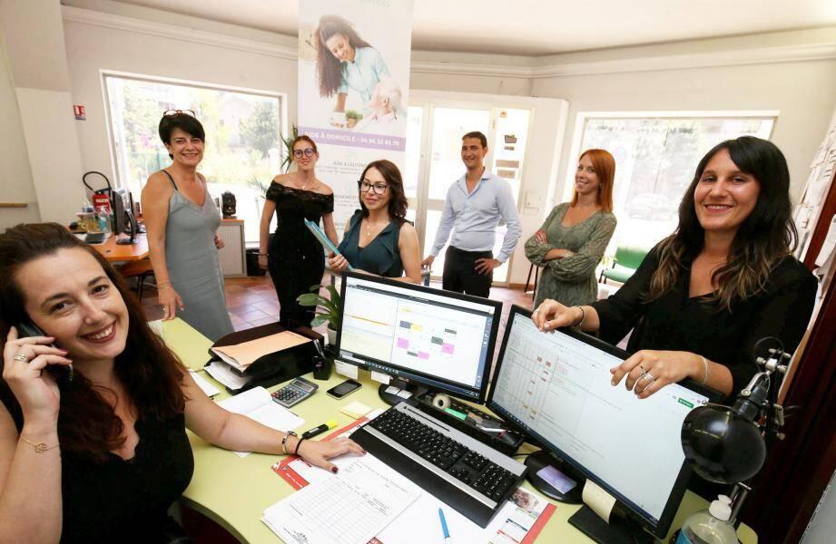 Chez Provence Aide Services dans le Var, les salariées des agences de Sanary, St-Raphaël et Hyères ont assuré la gestion des plannings des aides à domicile, fidèles au poste.