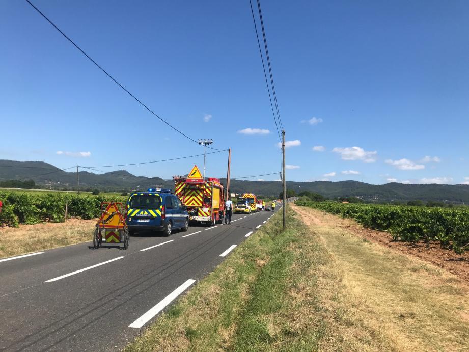 L'accident s'est produit route de Puget-Ville.