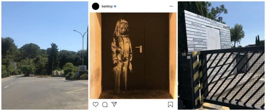 L'oeuvre de Banksy, volée à Paris, a pu transiter par La Seyne où un suspect dispose d'une villa cossue et d'un box.