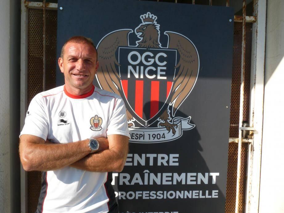 Alain Wathelet du temps de l'OGC Nice.