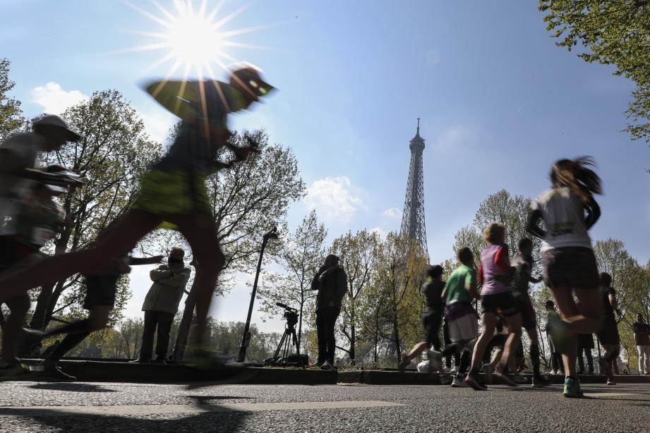 La 43e édition du marathon de Paris s'était déroulée le 14 avril 2019.