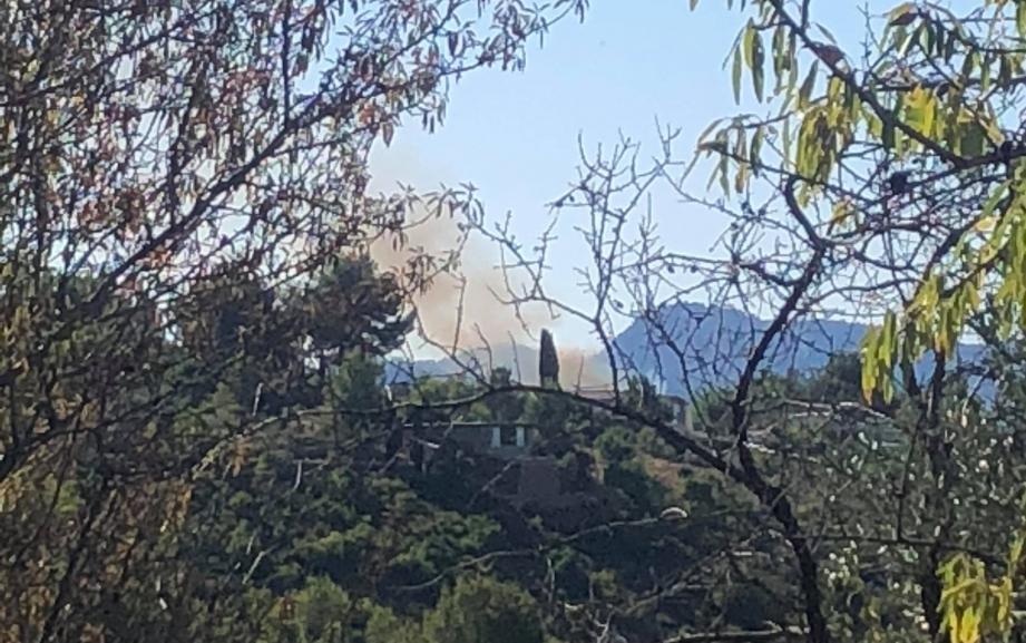 Le feu a détruit 600 m2 de végétation.