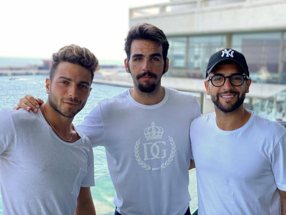 Gianluca Ginoble, Ignazio Boschetto et Piero Barone.
