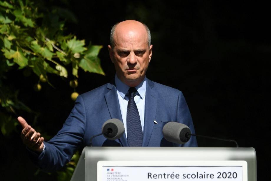 Le ministre de l'Education nationale Jean-Michel Blanquer présente la rentrée scolaire 2020, le 26 août 2020 à Paris.