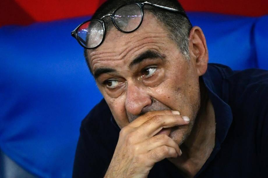 L'entraîneur de la Juventus Maurizio Sarri lors de la finale de la Coupe d'Italie face à Naples, le 17 juin 2020 à Rome