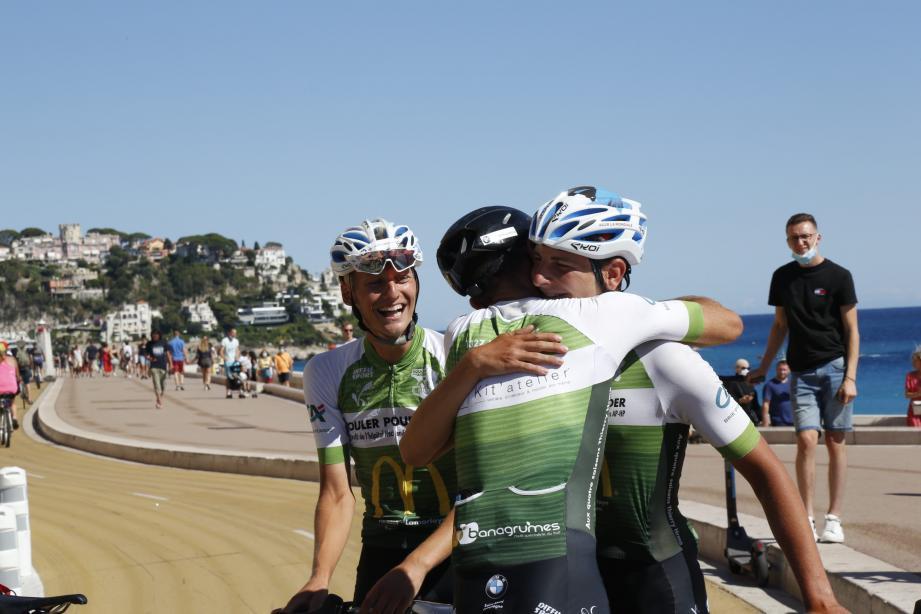 Alexandre, Milan et Hugo ont fait Lille-Nice à vélo.