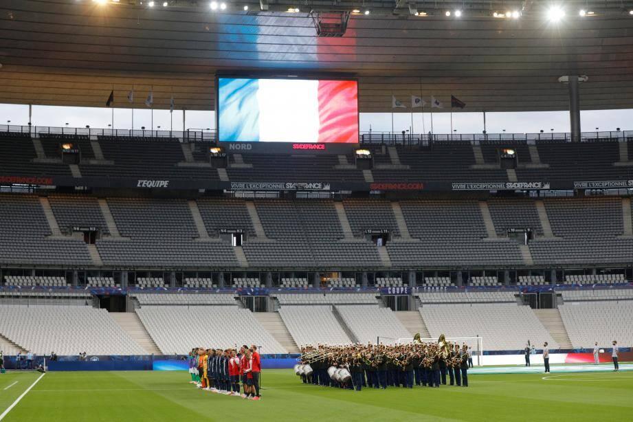 Pour l'instant, la Ligue 1 doit faire avec la ''jauge à 5.000'' (ici la dernière finale de la Coupe de France PSG-ASSE au Stade de France). Une restriction qui n'est pas une fatalité selon le projet de passeport sanitaire impulsé par l'AS Monaco.