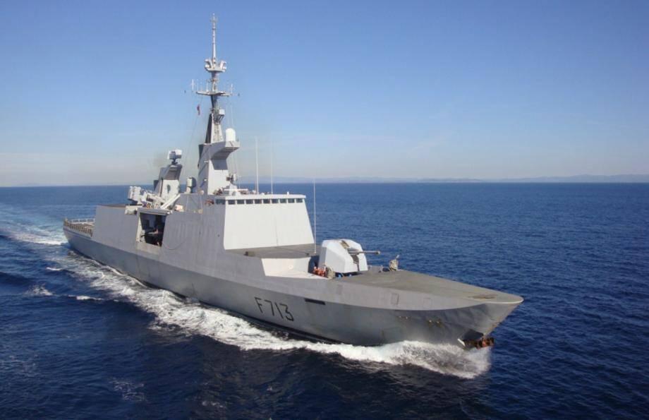 """Admise au service actif en 1999, l'Aconit est une des cinq frégates de type """"La Fayette"""" de la Force d'action navale."""