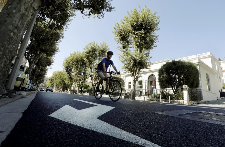 Le boulevard Carabacel, à Nice, est l'un des axes du parcours à jouir d'un bitume tout neuf.