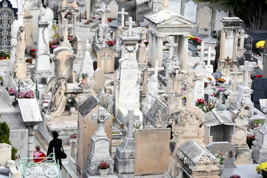 Un cimetière à Nice.