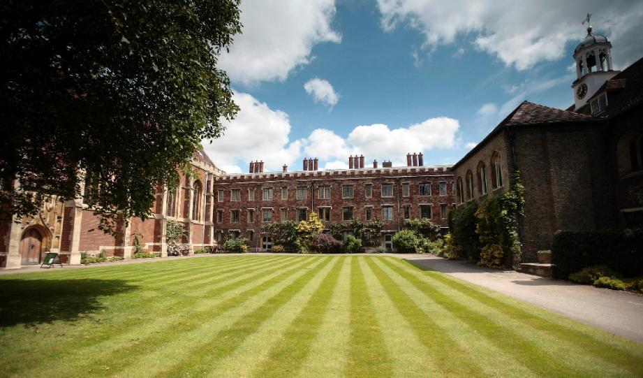 Le campus de l'Université de Cambridge en juin 2008