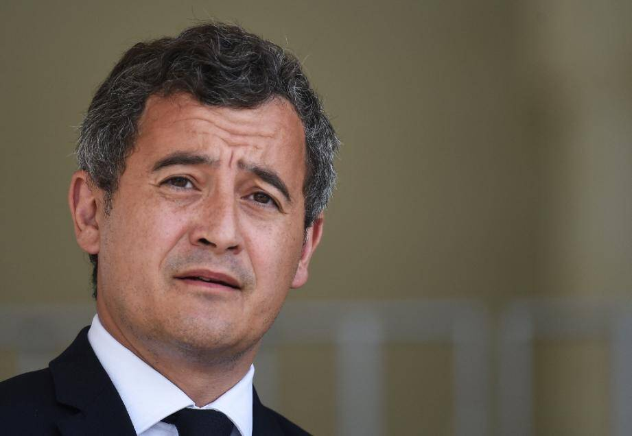 Le ministre de l'Intérieur Gérald Darmanin, le 12 août 2020 au Mans