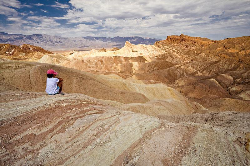 Dans la vallée de la Mort, en Californie, en 2007.