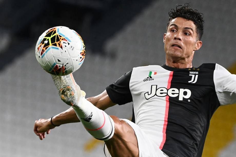L'attaquant portugais de la Juventus, Cristiano Ronaldo, lors du match de Serie A contre la Sampdoria, à Turin, le 26 juillet 2020