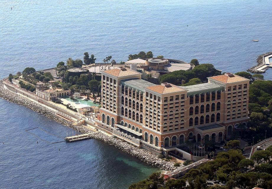 Vue aérienne sur le Monte-Carlo Bay