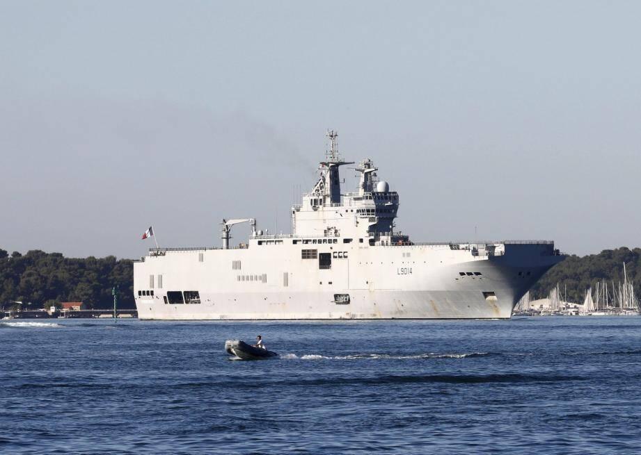 Le PHA Tonnerre doit quitter Toulon, son port d'attache, ce soir vers 19 heures.