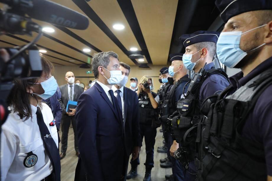 Gérald Darmanin, interpellé par le député LR des Alpes-Maritimes Eric Pauget.