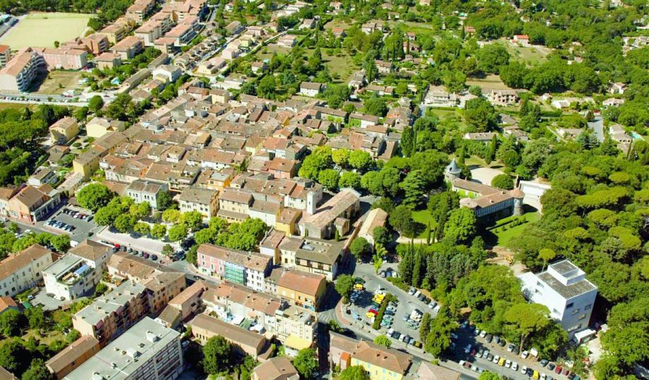 Vue sur le village de Mouans-Sartoux