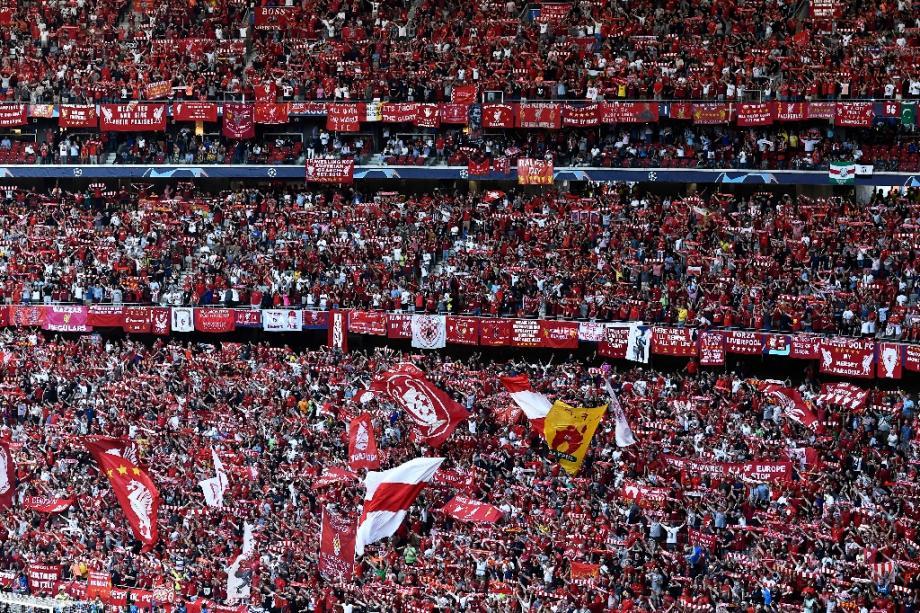 Les supporteurs de Liverpool lors de la finale de la Ligue des champions contre Tottenham, le 1er juin 2019 à Madrid
