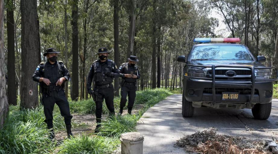 Des policiers au Guatemala.