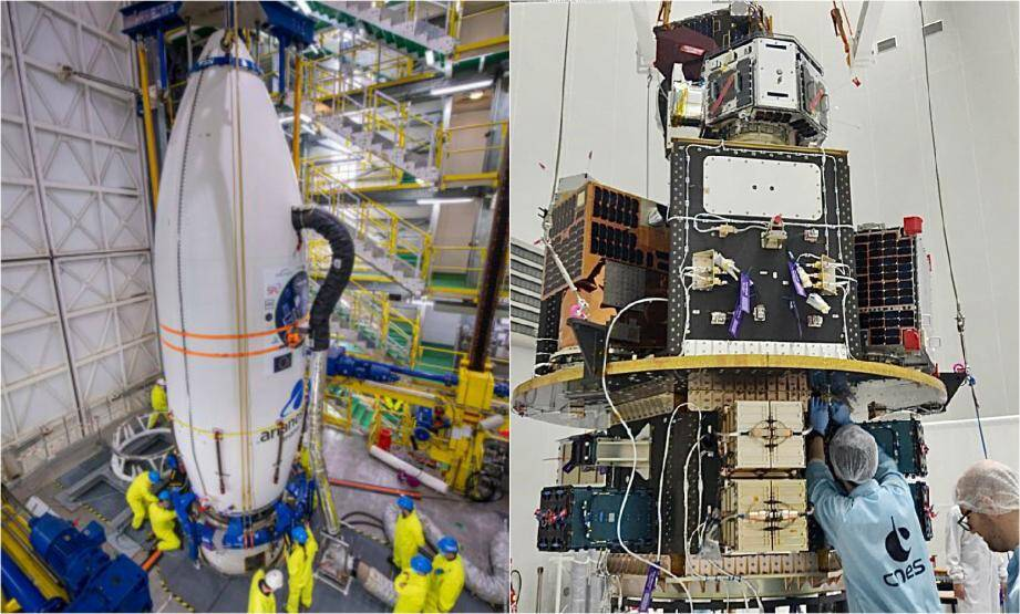 Intégré courant mars au sein du lanceur Vega, le nanosatellite «OSM1-Cicero» sommeille depuis dans la coiffe, la partie supérieure de la fusée. Durant le lancement, il cohabitera avec 52 autres satellites avant d'être mis en orbite autour de la Terre.