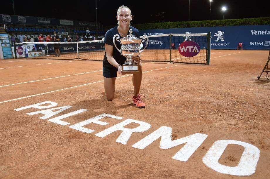 La Valbonnaise s'est imposée face à l'Estonienne et 20e mondiale Anett Kontaveit (6-2, 7-5), hier en Sicile. Elle avait déjà triomphé à Lausanne en juillet 2019.