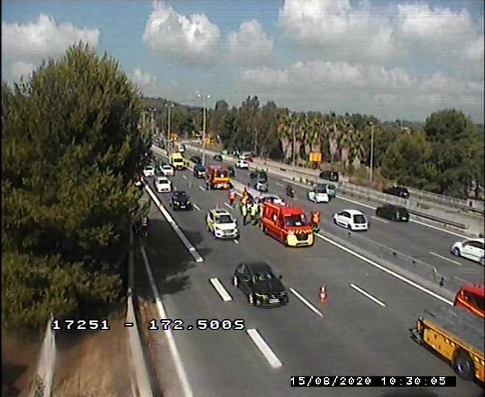 L'accident a eu lieu après la barrière de péage d'Antibes.