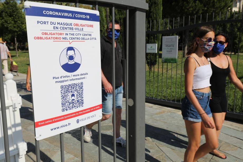 A l'instar de Nice (notre photo), le masque est désormais obligatoire à Valbonne à partir de ce dimanche de 11 heures à minuit.