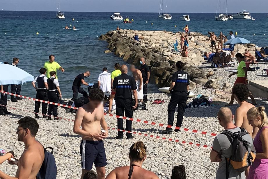 L'accident s'est déroulé sur l'une des plages de la promenade du Cap Martin.