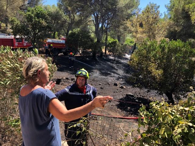 Un incendie s'est déclaré dans le massif de la Colle-Noire ce lundi 3 août.