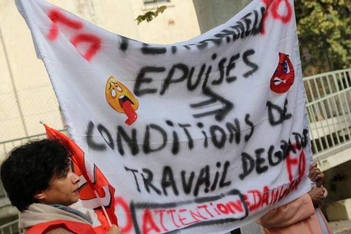 Manifestation au Luc.