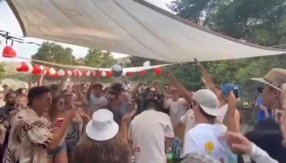 Une fête clandestine dans le secteur de Mandelieu.