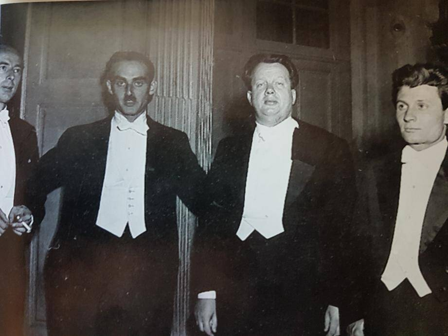 Le quatuor Vegh lors du 1er concert du Festival le 5 août 1950.