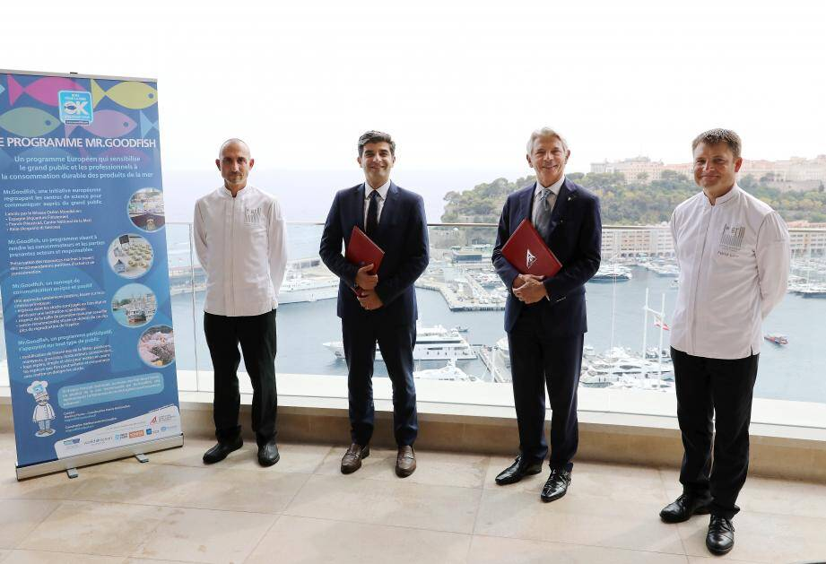 Autour d'Olivier Wenden et Ivan Artolli, les chefs Philippe Goullino et Patrick Laine devront mettre en musique le programme Mr Goodfish.