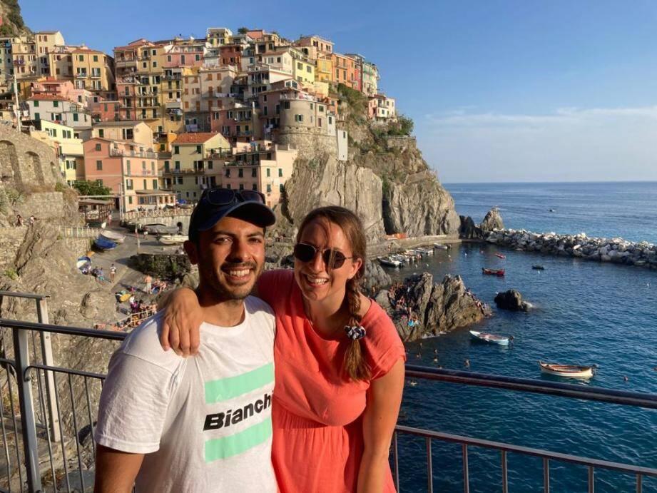 Naomi et Max ont opté pour les Cinque Terre avant de prendre l'avion depuis Pise.
