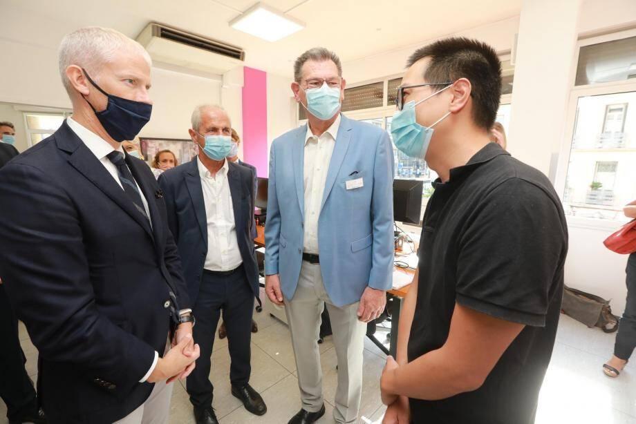 Franck Riester, le ministre délégué au commerce extérieur est en visite à Toulon ce mardi.