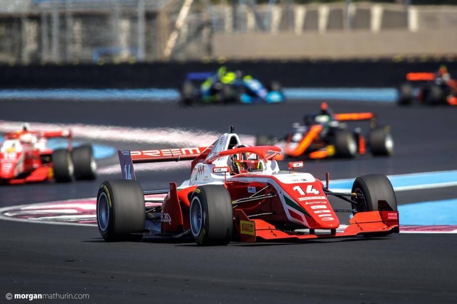 Arthur Leclerc, vainqueur puissance 2 sur le circuit Paul-Ricard.